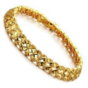 Золотая цепочка мужская на руку